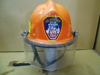 Vintage- FDNY-  NEW YORK CITY  Cairns & Brother Fire / EMS Helmet  Face Shield