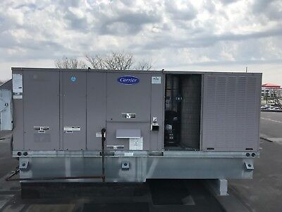 1- 20 ton Carrier Rooftop Gas Electric 460 Slightly Used
