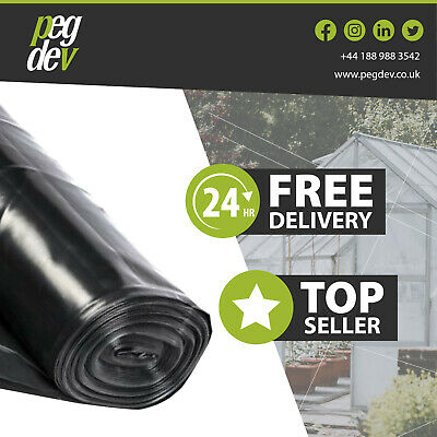 4M Wide 500G Black Polythene Plastic Sheeting Garden  Weeds Gravel Diy Material