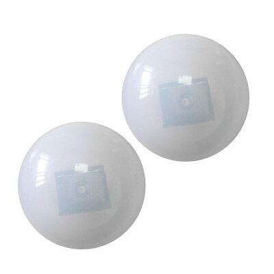 2pcs LED White Lighting Solar Floating Water Swimming Pool Ball Lamps 85mm