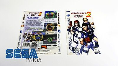 Virtua Cop 2 (Sega Saturn, 1996) *Manual & Box Art Only*