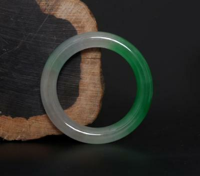 Good Perfect Chinese Carved Natural Jadeite Jade Bracelet-58mm