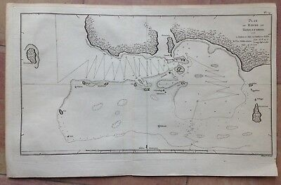 TONGA ISLAND 1777 JAMES COOK XVIIIe CENTURY DETAILED ANTIQUE COPPER ENGRAVED MAP