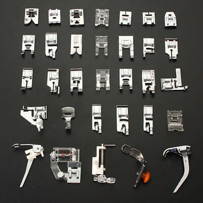 32Pcs/Set Presser Foot Feet For Brother Singer Domestic Sewing Machine Part AU