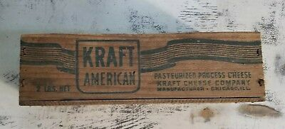 Vintage Wooden KRAFT cheese 2lb Box