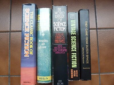 Science Fiction classic anthologies (hardcovers and trade paperbacks): Lot of 5