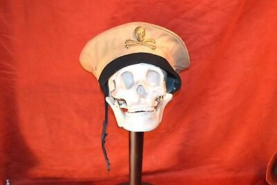 Vintage WW1 WW2 British Navy Submariner Cap hat totenkoff skull & crossbones