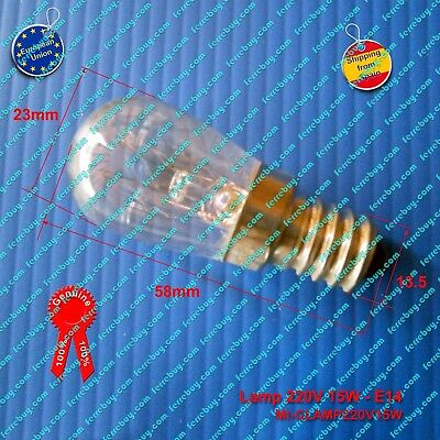 Lamp for microwave 220-240V 15W E14, bombilla microondas