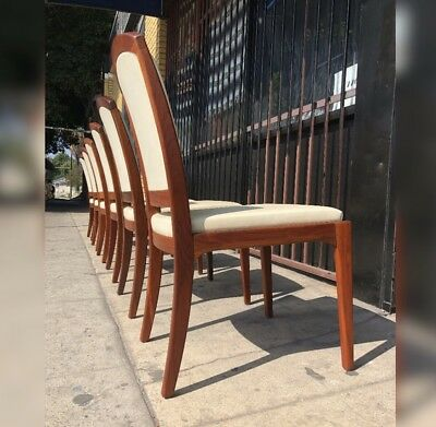 Set Of 6 Dining Chairs By John Keal For Brown Saltman- Mid Century