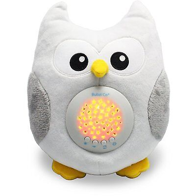 Bubzi Co White Noise Sound Machine & Sleep Aid Night Light. stuffed owl for baby