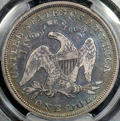 1871 Seated Liberty Dollar - PCGS VF-20 - Beautiful Album Toning!