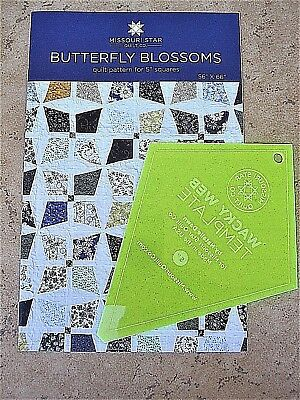 """5"""" Periwinkle Template & Butterfly Blossoms Quilt Pattern Missouri Star Quilt Co"""