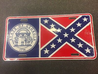 License Plate Georgia State Seal 1776 , GEORGIA STATE Flag, Vintage Style