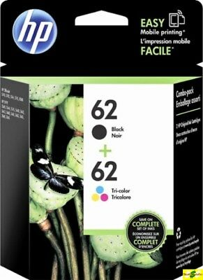 HP 62 Genuine Black & Color ink HP62 Combo Ink Cartridges New