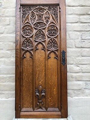 Impressive Large French Gothic Door panel in wood circa 1900 (2)