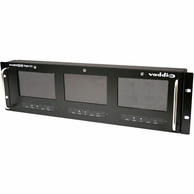 Vaddio 999-5510-01 PreVIEW Triple LCD Rack Mount Monitor NEW