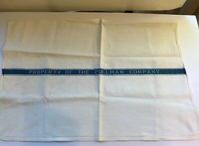 """Vintage """"Property Of The Pullman Company"""" 1940'S Railroad Towel"""