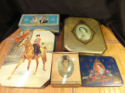 Collectible Tins Queen Elizabeth Ii Vintage British