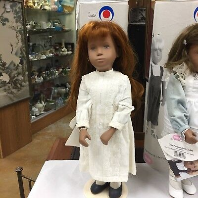 """Gotz Angela Doll With Tags And Tube 16"""" Tall Very Nice 9508002 With Stand"""