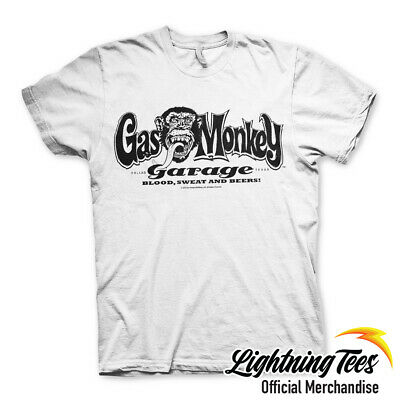 Official Gas Monkey Garage GMG Logo Fast N Loud White T-Shirt
