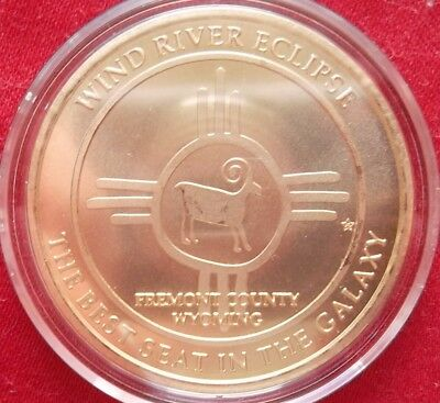 ONLY 125 minted!  Eclipse Across America / Wind River Eclipse brass medal