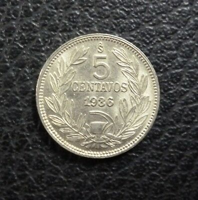 CHILE COIN 5 Centavos, KM165 UNC 1936