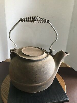 Old Vintage Cast Iron Tea Kettle