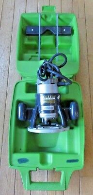Vintage SKIL Model 938 Plunge Router w/ Case & Guide - Made in U.S.A.