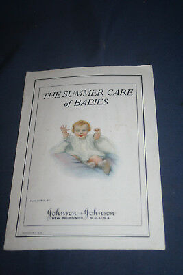 Vintage Collectible The Summer Care Of Babies Booklet
