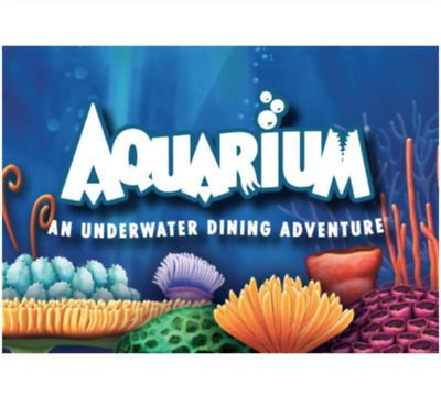 Aquarium Restaurant Gift Card - $25 $50 $100 - Email delivery