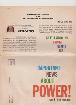 Oliver tractor sales brochure / poster from 1962 - Important news about POWER!