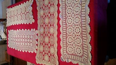 TABLE RUNNERS CROCHET X 4 ALL PERFECT (REF 2a)