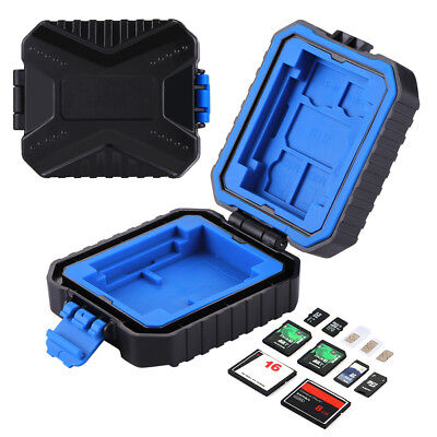 KF_ 11 in 1 SD TF Memory Card Storage Case Container for 3SIM 2XQD 2CF 2TF 2SD