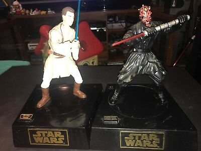 1999 Lucasfilm Star Wars Episode I 1 Darth Maul Action And Obi Wan Kenobi
