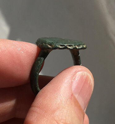 ancient bronze ring - Roman? Byzantine? patina indicating antiquity