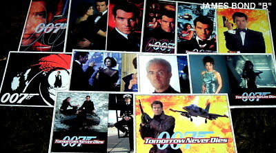 "1997 JAMES BOND LOT OF 12 POSTCARDS ""b"""