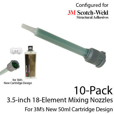 Mixing Nozzles 10-Pack-fits 3M EPX 50ml Cartridges (Shorter 3.5in, 1:1 & 2:1)