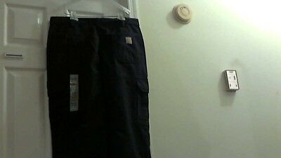 New Carhartt Flame-Resistant Cargo Safety Work Pants 36 x 30 Blue W/O Tags