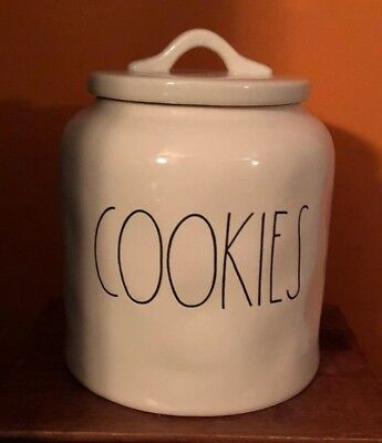 New Rae Dunn Short and Chubby COOKIES Canister Jar Holder LL by Magenta