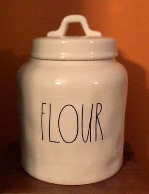 New Rae Dunn Short and Chubby FLOUR Canister Jar Holder LL by Magenta