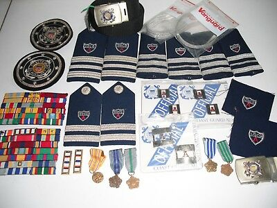 USCG Coast Guard Auxiliary jackets pins belt patch medals shoulder boards