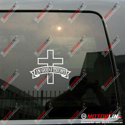 In God We Trust Thin Blue Line Cop Police Vinyl Decal Sticker Car Window M50