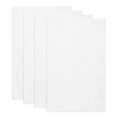 4Pcs 30cm x 45cm White 11 Count Cross Stitch Cloth Aida Fabric/Canvas Cotton