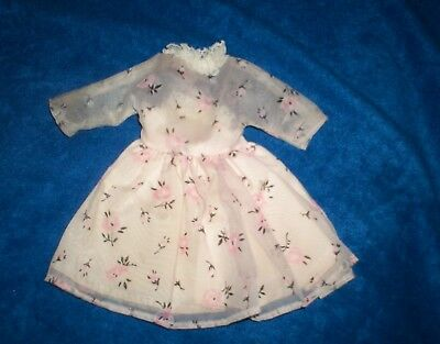 Vintage 1950's Pink Organza Doll Dress w/ Square Snaps! Very Good Condition