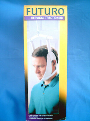 NIB Futuro Cervical Traction Kit Home Therapy Set Head Halter Water Bag & Hanger