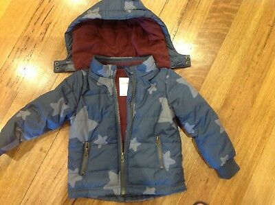 Boys jacket size 3 Jack and Milly New without tags