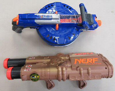 Lot of 2 Nerf Guns Pulsator & N-Strike Elite Hail Fire PREOWNED