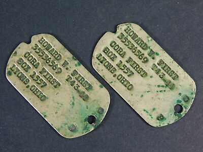 Pair of Dog tags with next-of-kin