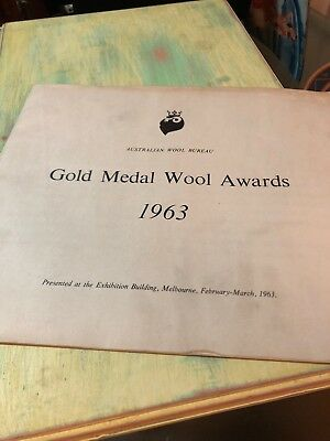 Vintage 1963 Gold Medal Wool Awards Brochure
