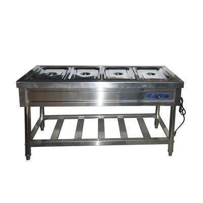 """59"""" 4-Pan Restaurant Electric Bain-Marie Steam Table Food Warmer-110 V With Pans"""